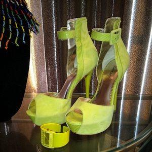 BeBe Lime green heels